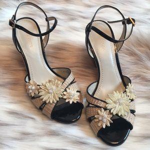Liz Claiborne Mirabella size 8 Wicker leather pump